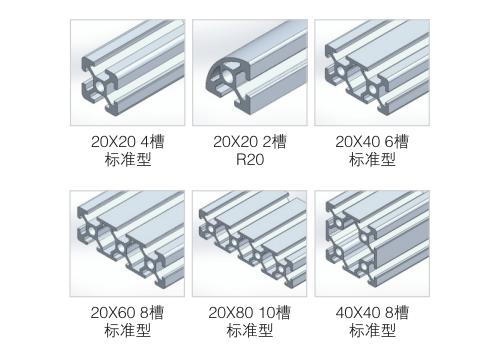欧标20框架铝材