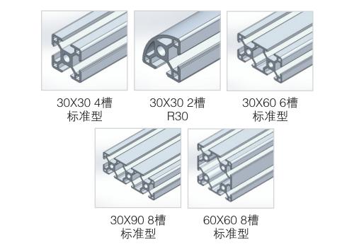 30型材中心孔φ6.8